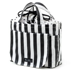 おむつポーチ 巾着トートタイプ wide stripe(broadcloth・black)【オムツケース おむつ入れ おむつバッグ】(赤ちゃん ベビー 出産祝い男の子 女の子)