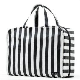 おむつポーチ バッグタイプ wide stripe(broadcloth・black)【オムツケース おむつ入れ おむつバッグ】(赤ちゃん ベビー 出産祝い男の子 女の子)
