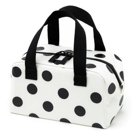 保温・保冷バッグ polka dot large(broadcloth・white)【保温・保冷離乳食ケース】(赤ちゃん ベビー 出産祝い男の子 女の子)