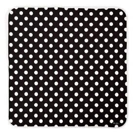 おくるみ・アフガン polka dot large(black) (赤ちゃん ベビー 新生児 出産祝い ギフト 女の子)