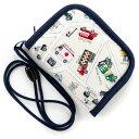 【B品セール商品】キッズコインケース(ひも付き) 街ゆくクルマのドライブマップ (ひも付 コインケース キッズ 財布…