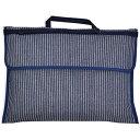 防災頭巾カバー スタンダード(背板幅36cmタイプ) ピンストライプ・インディゴ (背もたれ 持ち手付き 椅子カバー …