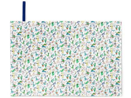 レジャーシート 一人用 60x90 恐竜タウンは大忙し(スケアー地) (ピクニックシート レジャーマット 敷物 遠足 公園 マット 子供 キッズ 小学生 幼児 幼稚園 男の子 入学祝い 恐竜)