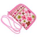 キッズコインケース(ひも付き) スカンジナビアのフラワーパーク(ピンク) (ひも付 コインケース キッズ 財布 子供…
