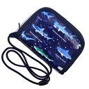 キッズコインケース(ひも付き) 大海原の海遊シャーク(ネイビー) (ひも付 コインケース キッズ 財布 子供 お財布 …