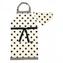 decor PolkaDot エプロン 130-160サイズ polka dot large(twill・white)×narrow stripe(twill・black)