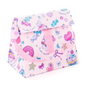 ランチバッグ 子供用 保冷弁当袋 お弁当 保冷バッグ ランチバッグ 幼稚園 ランチバッグ 保冷 ミルキースイーツのキャンディアラモード(スケアー地) ピンク 女の子