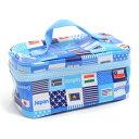ランチバッグ・保冷弁当袋 バニティ 国旗で旅する世界旅行(スカイブルー)
