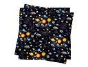 ランチクロス・給食ナフキン(2枚セット) スタンダード 太陽系惑星とコスモプラネタリウム(ブラック) (ランチクロス 男の子 ナフキン 小学校 ランチョンマット ランチクロス お弁当包み テーブル ク