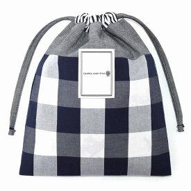 給食袋 ダンガリーブラック×ギンガム 小学校 道具 袋 給食 袋 小学生 入学 道具袋 巾着 マチ 幼稚園