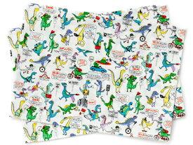 【2月限定 先得ポイント10倍キャンペーン】ランチョンマット(2枚セット) スタンダード 恐竜タウンは大忙し (ナフキン 小学校 幼稚園 ランチョンマット 給食 ランチクロス テーブル クロス 給食 ランチ マット 男の子 入園準備 恐竜)