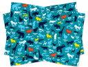 ランチョンマット(2枚セット) スタンダード アニマルシルエット百科事典 (ナフキン 小学校 幼稚園 ランチョンマ…