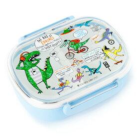 ランチボックス 恐竜タウンは大忙し (プラスチック お弁当箱 360ml 食洗機 食器洗い キッズ 幼児 子供 幼稚園 小学生 小学校 男の子 セット 入園 恐竜)