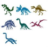 お名前シール(スタンダード 撥水 134ピース) 恐竜の大化石博物館【代引不可 送料無料 クロネコDM便】 (おなまえシール ネームラベル 子供 幼児 小学生 幼稚園 男の子 入学祝い)
