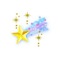 お名前シール(my目じるし アイロン伸縮 96ピース) 流れ星【代引不可 送料無料 クロネコDM便】 (おなまえシール ネームラベル 子供 幼児 小学生 幼稚園 女の子 入学祝い)