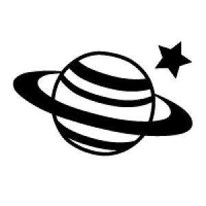 お名前スタンプ(気軽にシンプル7本セット) 惑星 【ネームスタンプ 名前はんこ】 (子供 幼児 小学生 幼稚園 男の子 入学祝い)