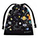 巾着袋 子供用 マチ無し給食袋 巾着袋 中 小学校 お袋袋 給食袋 小学生 かわいい 入園準備 入園グッズ 太陽系惑星 ブ…