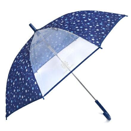 ジャンプ傘(55cm) ブリリアントスター 紺 (レイングッズ 子供用かさ アンブレラ レインパラソル 雨傘 雨具 子ども 子供 キッズ 幼児 小学生 幼稚園 男の子)