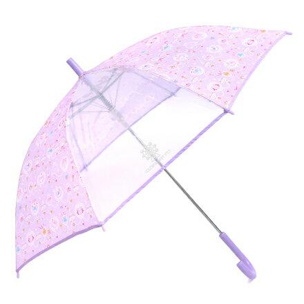 ジャンプ傘(55cm) レース模様にprettyバレリーナ(ラベンダー) (レイングッズ 子供用かさ アンブレラ レインパラソル 雨傘 雨具 子ども 子供 キッズ 幼児 小学生 幼稚園 女の子)