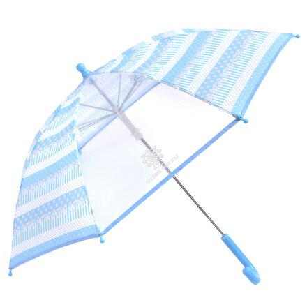 手開き傘(45cm) ポルカドットとレースリボンに魅せられて(ライトブルー) (レイングッズ 子供用かさ アンブレラ レインパラソル 雨傘 雨具 子ども 子供 キッズ 幼児 小学生 幼稚園 女の子 入学祝い)