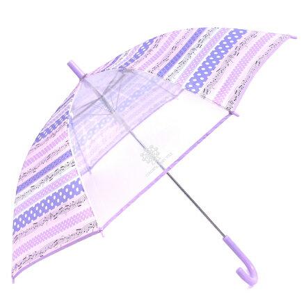 ジャンプ傘(55cm) 奏でるメロディー弾ける水玉リズム(ラベンダー) (レイングッズ 子供用かさ アンブレラ レインパラソル 雨傘 雨具 子ども 子供 キッズ 幼児 小学生 幼稚園 女の子 入学祝い)
