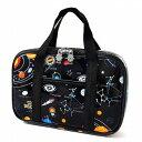 裁縫バッグ ソーイングバッグ 太陽系惑星とコスモプラネタリウム(ブラック)  (小学生 かわいい 裁縫バッグのみ …