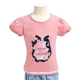 キッズTシャツ(半袖) dressy round ribbon【プリントTシャツ クルーネックTシャツ】(こども 子供 子供 キッズ ジュニア 幼児 小学生 女の子 入学祝い)