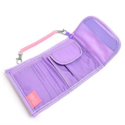 キッズウォレット(財布)フラワー模様のエアリーシャワー(ラベンダー)日本製