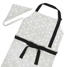 エプロン(150〜フリーサイズ)三角巾付き Polka Dot Ribbon