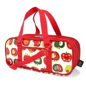 絵の具バッグ 子供用 画材バッグ 子供 絵の具 バッグのみ 単品 小学生 サクラクレパス 水彩 画材 小学校 かわいい コンパクト おしゃれリンゴ アイボリー 女の子