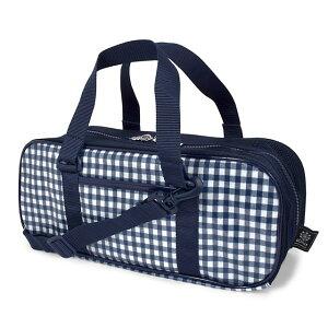 画材・絵の具バッグ チェック大・紺 子供用 子供 絵の具 バッグのみ 単品 小学生 サクラクレパス 水彩セット 画材セット 小学校 かわいい コンパクト