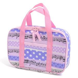 裁縫・ソーイングバッグ 奏でるメロディー弾ける水玉リズム(ラベンダー) 子供用 裁縫バッグのみ 小学生 裁縫道具 ソーイングセット 小学校 さいほうバッグ 小学生 かわいい おしゃれ