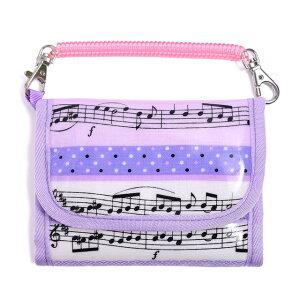 キッズウォレット(財布) チェーン付き 奏でるメロディー弾ける水玉リズム(ラベンダー) (お財布 キッズ 子供 財布 女の子 小学生 キッズウォレット チェーン コインケース こども 紐