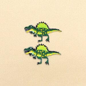 ワッペン スピノサウルス (2個セット) 子供用 ワッペン アイロン アップリケ 幼児 子供 かわいい おしゃれ