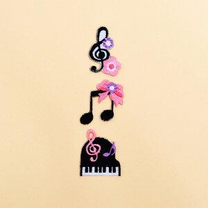 ワッペン 奏でるハーモニー音楽会セット (3個セット) 子供用 ワッペン アイロン アップリケ 幼児 子供 かわいい おしゃれ
