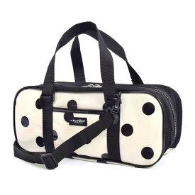 画材バッグ 絵の具バッグ polka dot large(twill・white) 子供用 絵の具 バッグのみ 単品 小学生 サクラクレパス 水彩セット 画材セット 小学校 かわいい
