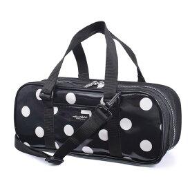 画材セット 絵の具セット polka dot large(twill・black) 子供用 絵の具 バッグのみ 単品 小学生 サクラクレパス 水彩セット 画材セット 小学校 かわいい