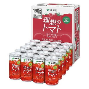 伊藤園 理想のトマト 缶 190g×20本 食塩無添加 トマトジュース 長期保存