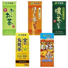 伊藤園 250ml×24本入(お〜いお茶 緑茶 健康ミネラルむぎ茶 金の烏龍茶 ほうじ茶 濃い茶)紙パック テトラ 麦茶 ウーロン茶 おーいお茶 緑茶