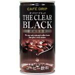 缶コーヒーカフェドリップザ・クリアブラック缶190g×30本入【最安値に挑戦】190ml珈琲ブラックコーヒー