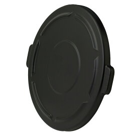 Rubbermaid ラバーメイド 20ガロンBRUTE ブルート 丸型コンテナ用フタ 黒 (代引不可) FG261960BLA