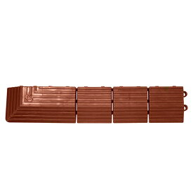 テラモト ナイロンブラッシュ 専用ふち 角ふちオス 75×375mm 茶 MR-003-591-4
