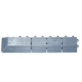 テラモト ナイロンブラッシュ 専用ふち 角ふちメス 75×375mm 灰 MR-097-892-5