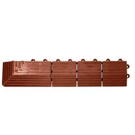 テラモト ナイロンブラッシュ 専用ふち 角ふちメス 75×375mm 茶 MR-003-592-4