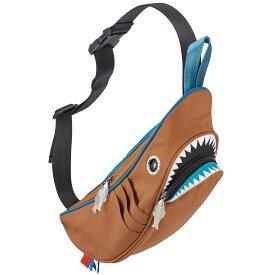 ウエストポーチ MORN CREATIONS シャークウエストポーチ サメバッグ 正規品 ウエストバッグ ウエストバック モーンクリエイションズ シャークバッグ コンビ ブラウン/ブルー