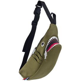 ウエストポーチ MORN CREATIONS シャークウエストポーチ サメバッグ 正規品 ウエストバッグ ウエストバック モーンクリエイションズ シャークバッグ グリーン