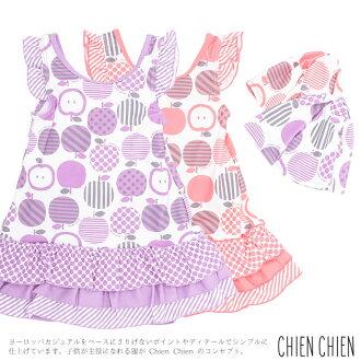 有婴儿/小孩游泳衣/苹果印刷连衣裙游泳衣盖子
