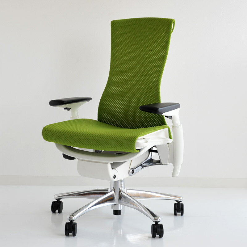 hmpw04 herman miller herman miller embody chair embody polished aluminium white balance green apple