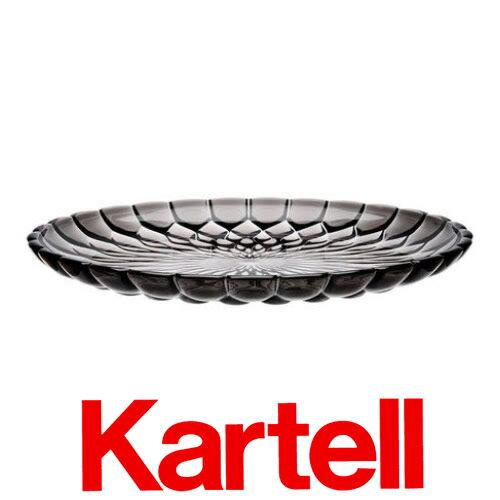 Kartell (カルテル) JELLY PLATE プレート/スモーク JELP-1226-V9 ジェリー テーブルセンタープレート グレー ●_dp15