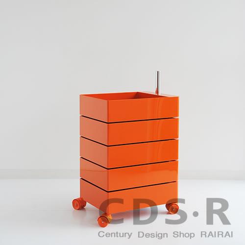 MAGIS (マジス) 360°コンテナー/5段(H72)オレンジ AC250-1658C 引き出し収納・キャスター付き_dp10